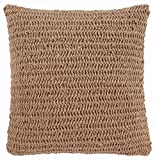 Ashley Furniture Signature Design - Tryton Woven Decorative Throw Pillow Cover - Jute Front & Cotton Back - Traditional - Natural