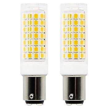 1819 BA15D bombillas LED de intensidad regulable 6 W equivalente a 75 W bombilla halógena, 95 V-240V blanco cálido 3000 K: Amazon.es: Hogar