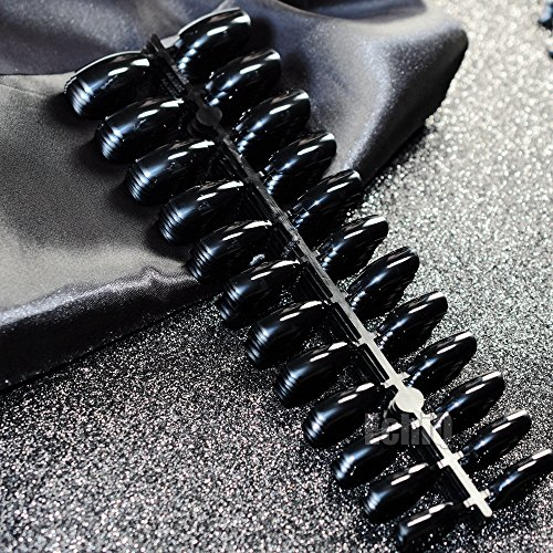 100Sets Black Ballerina Coffin Nails False Nail Full Cover Flat Shape Acrylic Nail Tips Artificial Nails Fake Nails Fuax Ongles 100sets -