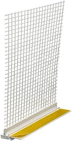 30 Stäbe Anputzleiste 6mm mit Schutzlippe und Gewebe 1,4m Apu Leiste Profil Putz