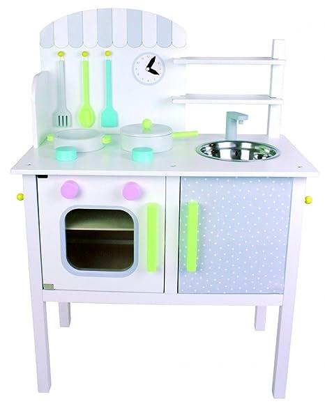 Cucina per bambini con pentole e accessori in legno: Amazon.it ...
