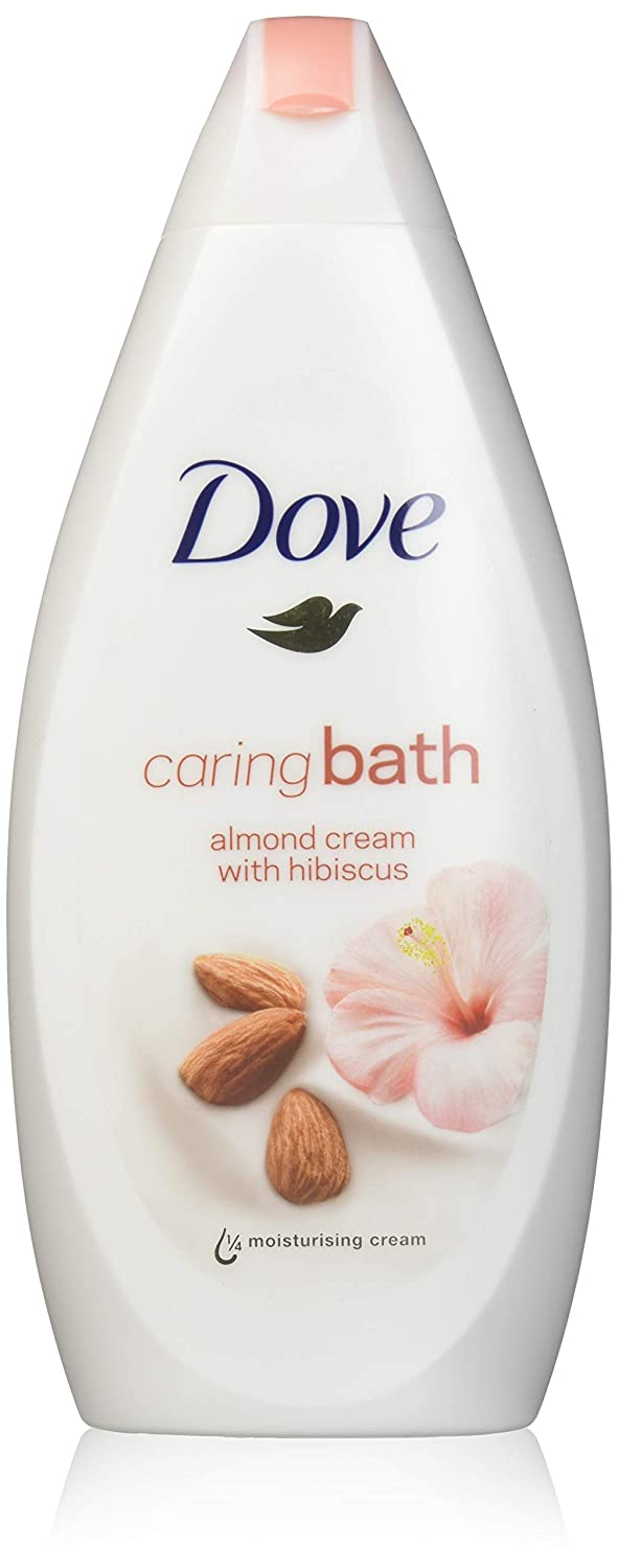 3 Dove Nourishing and Restore Body Wash 500ml/19.9oz (3X 500ml/16.9oz, Purely pampering-Almond cream with hibiscus)