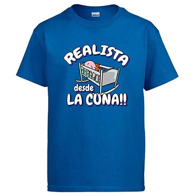 Diver Camisetas Camiseta Realista Desde la Cuna Real Sociedad fútbol: Amazon.es: Ropa y accesorios