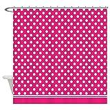 Hot Pink Polka Dot Shower Curtain CafePress - Hot Pink polka dot Shower Curtain - Decorative Fabric Shower Curtain