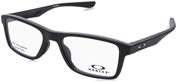 4a274f2c853 Image Unavailable. Image not available for. Color  OAKLEY OX8108 - 810801  FIN BOX Eyeglasses 51mm