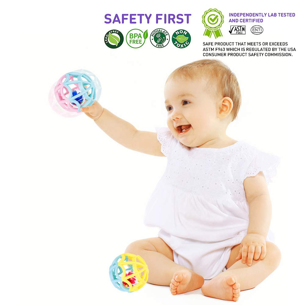 Set Dos Pelotas Sensoriales Para Bebés + 0 Meses a 2 años ...