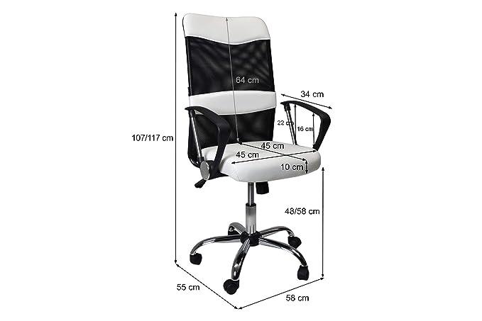 Ufficio Direzionale Bianco : Sedia da ufficio direzionale poltrona operativa regolabile in