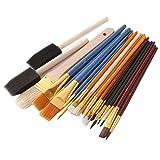 RONDA 25 PCS Paint Brushes Set Nylon Brushes for