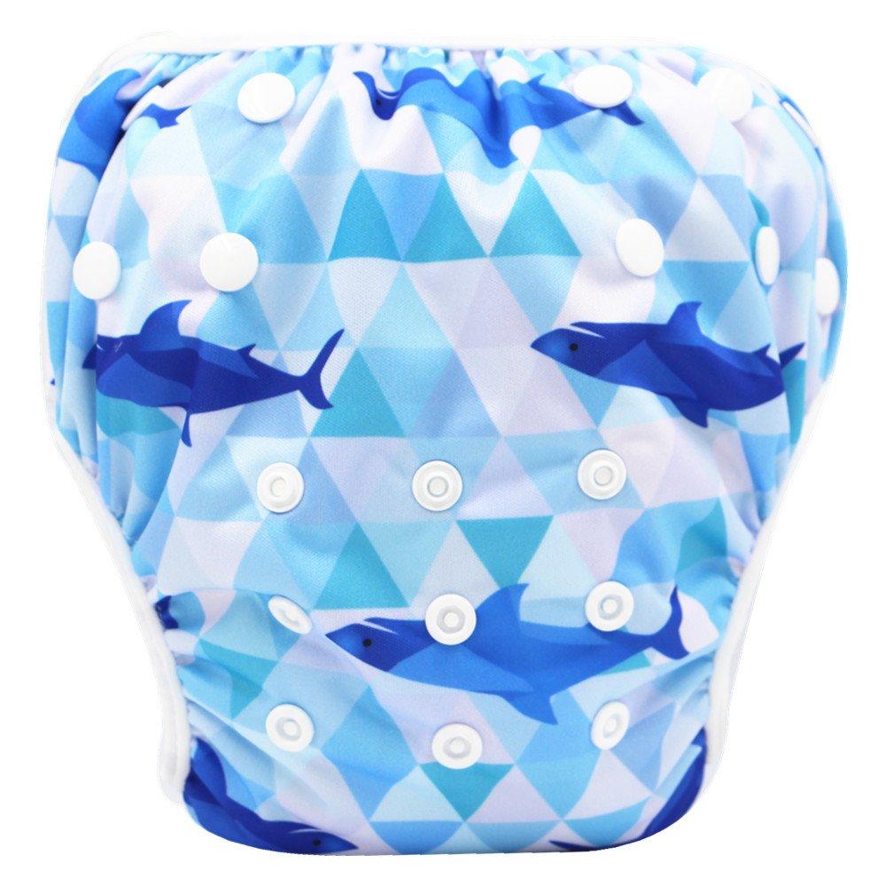 Storeofbaby Baby Schwimmwindeln mit verstellbaren Snap für Mädchen und Jungen 0-3 Jahre Swim Diaper_60_EU