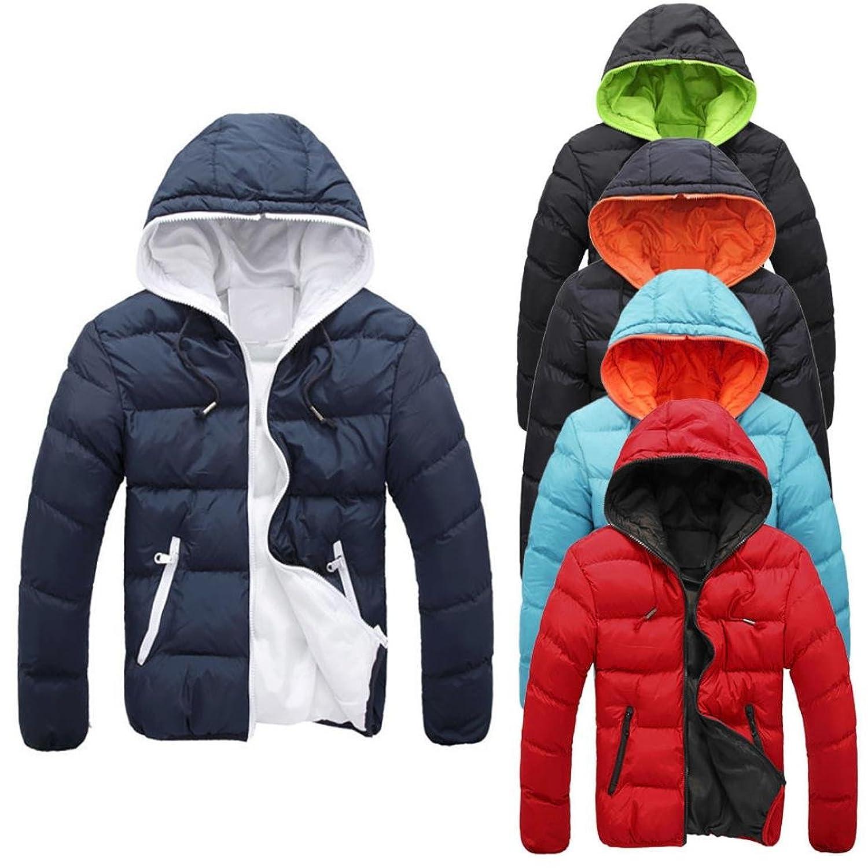 SHOBDW Hombres delgado informal chaqueta caliente encapuchado invierno gruesa abrigo parka abrigo con capucha WOQKQfqqGh