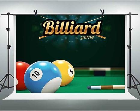 FHZON TMFH187 - Fondo para fotografía de Juegos de Billar (Fondo ...