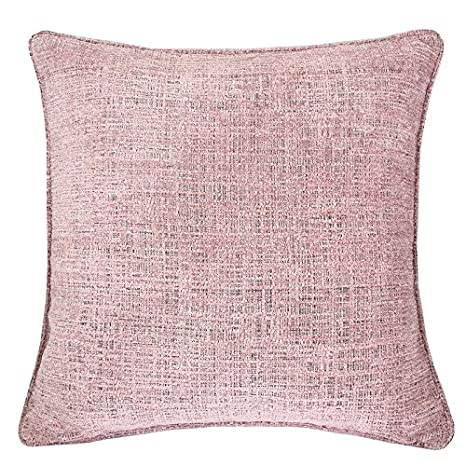 Homey Cozy Chenille Textured Throw Pillow Cover,Heavy Chenille Series Blush  Pink Large Sofa Couch Decorative Pillow Case Modern Western Home Decor