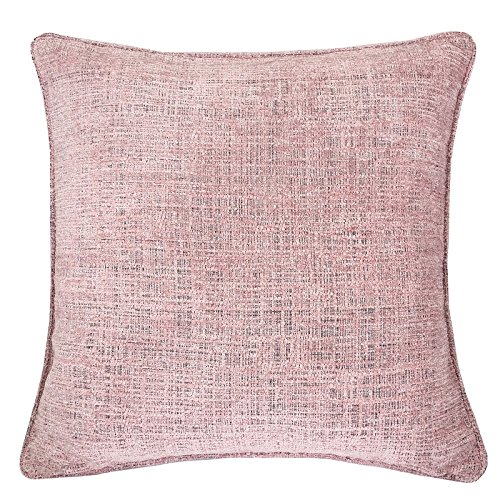 Homey Cozy Chenille Textured Throw Pillow Cover,Heavy Chenille Series Blush Pink Large Sofa Couch Decorative Pillow Case Modern Western Home Decor 20x20, Cover Only