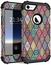 Hocase iPhone 8 Case/iPhone 7 Case, Shockproof Protection Heavy Duty Hard Plastic+Silicone Rubber Bumper Full Body Protective Case for iPhone 8/iPhone 7 (4.7-inch Display)