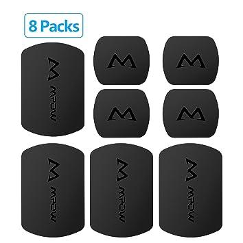 [Versión Nueva] Mpow Placas Metálicas de 8 Packs para Soporte Móvil Magnético del Coche