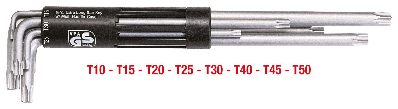 KS Tools 151.2380 3 in 1 TX-Winkelschl/üssel-Satz,8-tlg XL