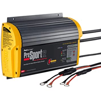 promariner prosport 12 gen 3 heavy duty recreational series on board marine battery charger 12 amp 2 bank consumer electronics Amp Gauge Wiring Diagram