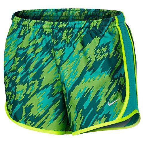 Nike Girls Dry Tempo Pantalones Cortos Para Correr Court Green (313) / Volt / Court Green
