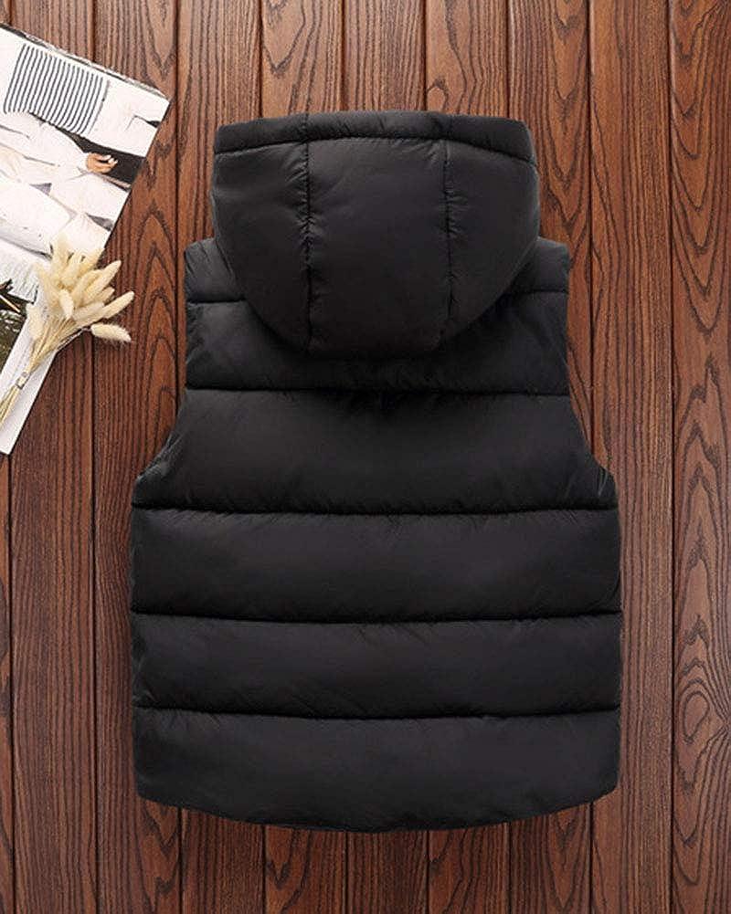 Chaquetas de Plum/ón Infantil Ni/ños Ni/ñas Chaleco Acolchado con Capucha Chaqueta Vest