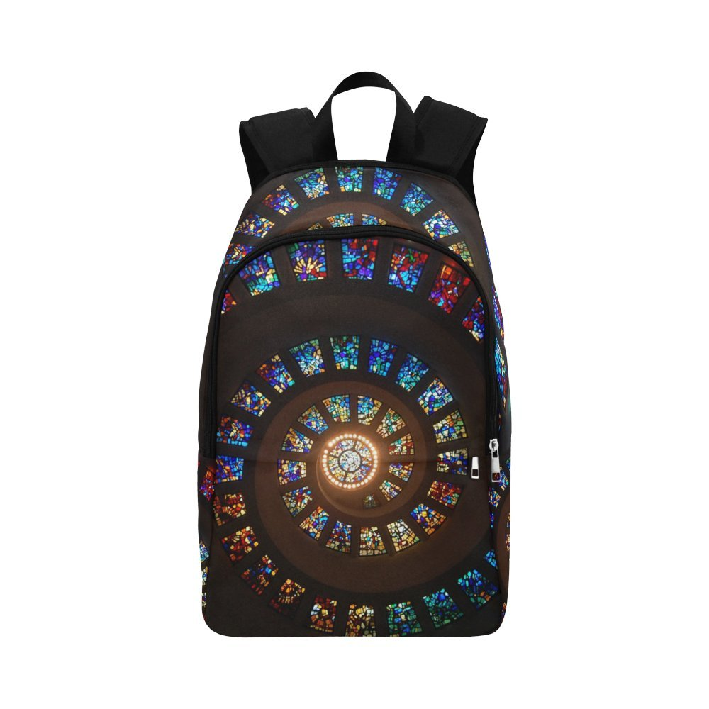 Artsadd Stained-Glass Backpack Casual Daypack Travel Bag