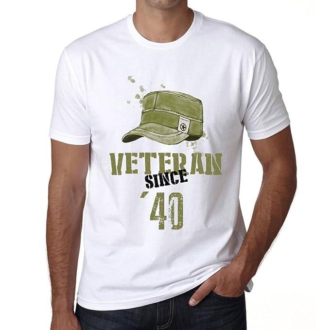 Veteran Since 40 Hombre Camiseta Blanco Regalo De Cumpleaños ...