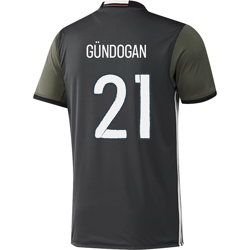 Adidas GUNDOGAN #21 Germany Away Soccer Jersey Euro 2016(Authentic name and number of player)/サッカーユニフォーム ドイツ アウェイ用 ギュンドアン 背番号21 Euro 2016 B01A63QHPC Large