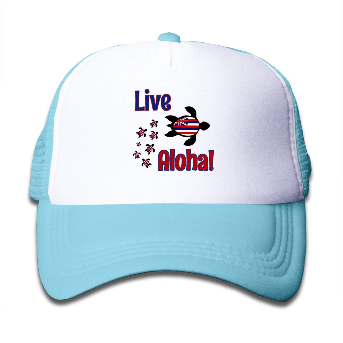 ba0e84cc2 Amazon.com: Live Aloha Sea Turtle Mesh Baseball Cap Boy Adjustable ...