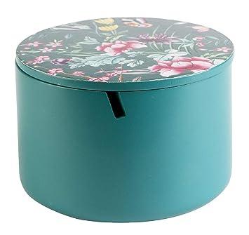 KASA Caja Decorativa con Espejo y Tapa de Flores, Verde, 13 cm: Amazon.es: Electrónica