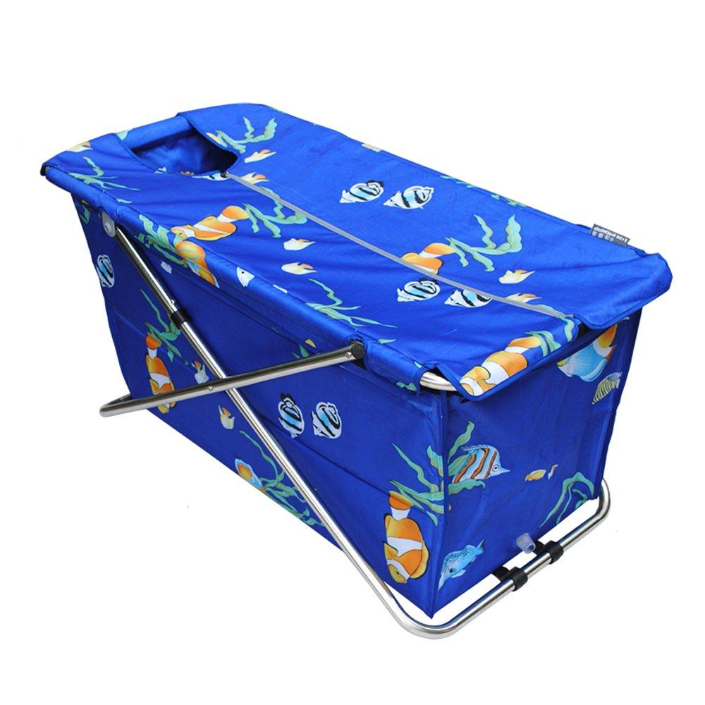 Common Tubs, Folding Bathtub, Massage Bathtub (Blue) - Soaking Tubs ...