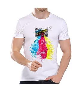 Balakie Plus Size Mens Shirt Cartoon Print Loose Cotton Stylish Blouse Tops(Red,L2)