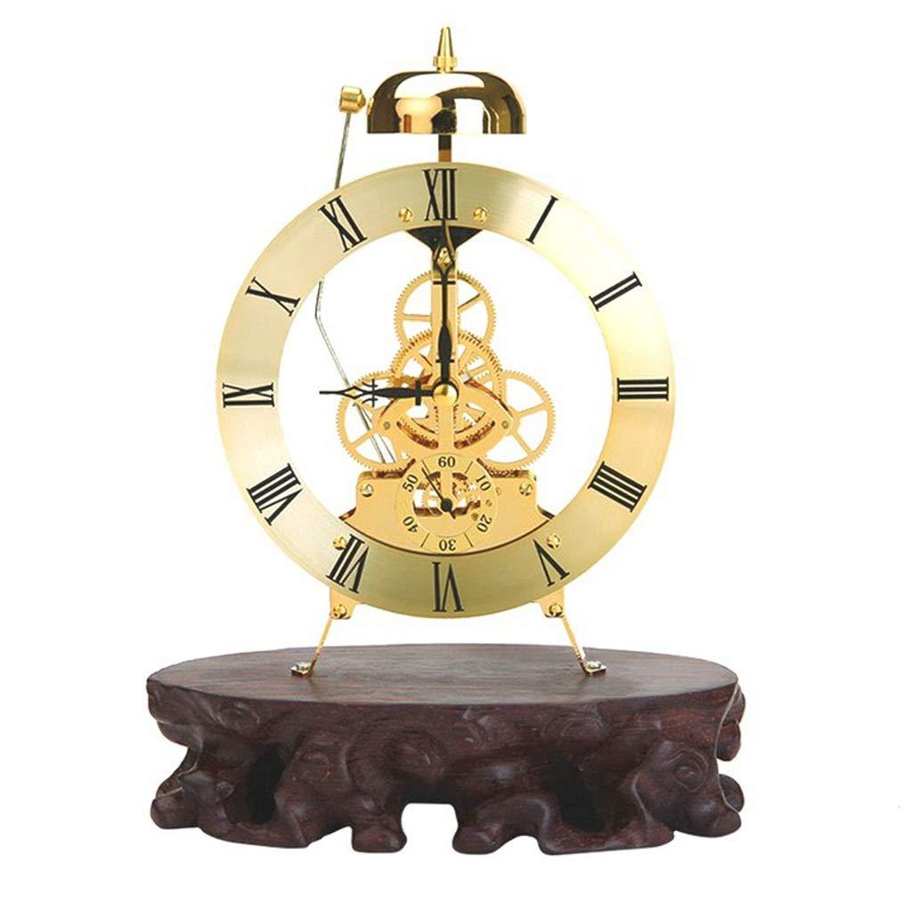 Table Clock Home Wohnzimmer Dekor Schlafzimmer Europäische Zahnräder Batteriebetriebener analoger Wecker Nicht Ticking Silent Industriestil
