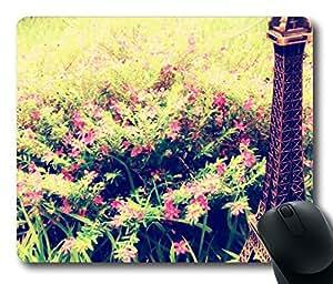 Design Mouse Pad Desktop Laptop Mousepads Eiffel Flowers 2 Comfortable Office Mouse Pad Mat Cute Gaming Mouse Pad