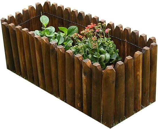 LIXIONG Jardín vallas de madera Todos los climas Madera maciza Paneles de enclavamiento Antiséptico Pantalla de privacidad Micropaisaje Decoración Planta empalizadas para Árbol de Navidad Patio, 9 tam: Amazon.es: Hogar