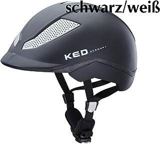 Amesbichler KED Casque d'équitation Pina Cycle & Ride réglable en continu Noir/Blanc Taille S = 51-56 cm | Capuchon d'équitation – Casque de vélo