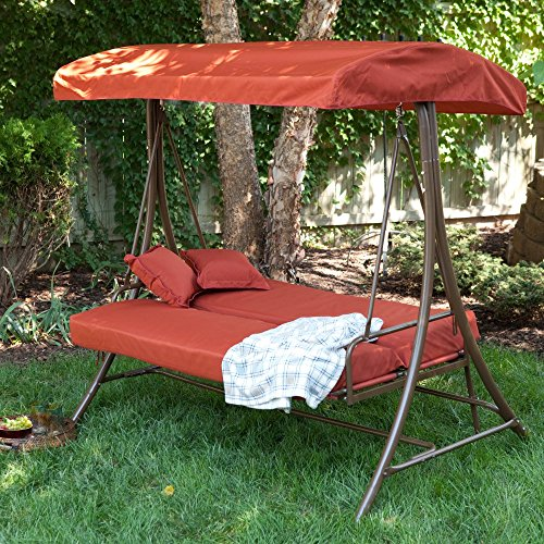 Coral Coast Siesta 3 Person Canopy Swing Bed - & 8 Outdoor Canopy Swing Bed Options to Die For (COOL AND COZY)