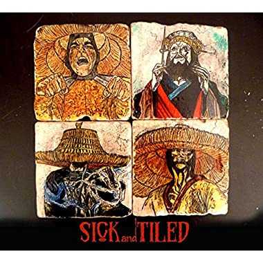 Lo Pan And The Three Storms Tumbled Marble Coasters Set of 4 Big Trouble In Little China
