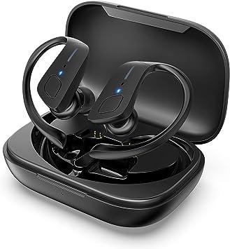 HolyHigh Auriculares Bluetooth 5.0 con 3000mAh Estuche de Carga ...