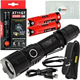 Klarus XT11GT Tactical Rechargeable Flashlight CREE XHP35 HD E4 LED 2000 Lumens with Extra 3100 mAh 18650 Battery and Lightjunction Battery Case