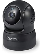 Faleemi HD Pan/Tilt Wireless WiFi IP Camera, Home Security Video Transmission Surveillance System, Nanny Cam with Two Way Audio, Night Vision Remote Control for Baby/Elder/Pet/Office Monitor FSC776B