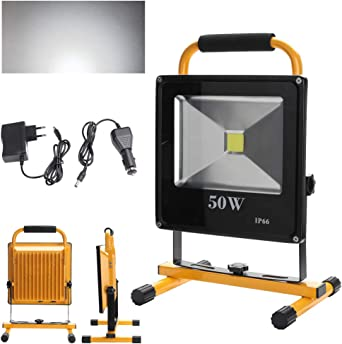 30W LED AKKU Strahler Arbeitsleuchte Fluter Handlampe Scheinwerfer Baustrahler
