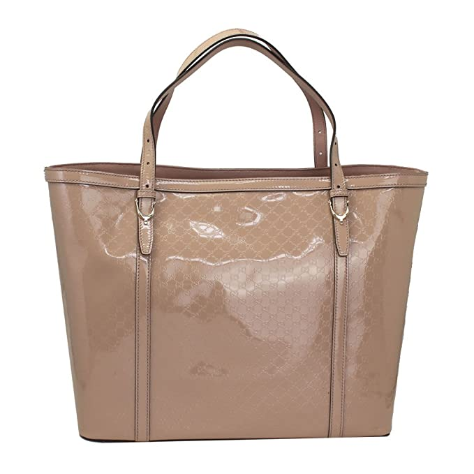 2fa6183ecc8b1d Gucci NIce Micro Guccissima Pink Patent Leather Tote Bag 309613: Amazon.ca:  Clothing & Accessories