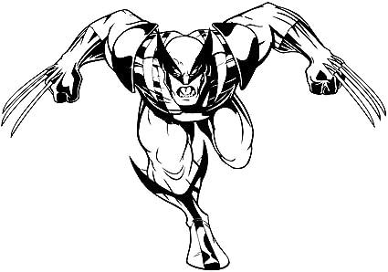Logan Vinyl Decal Animated Wolverine Art Design Cartoon Interior Decorative Roommates Sticker Marvel Comics Character Wall