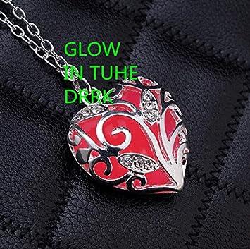 Amazon.com: Rosa collar – regalo de aniversario – corazón ...