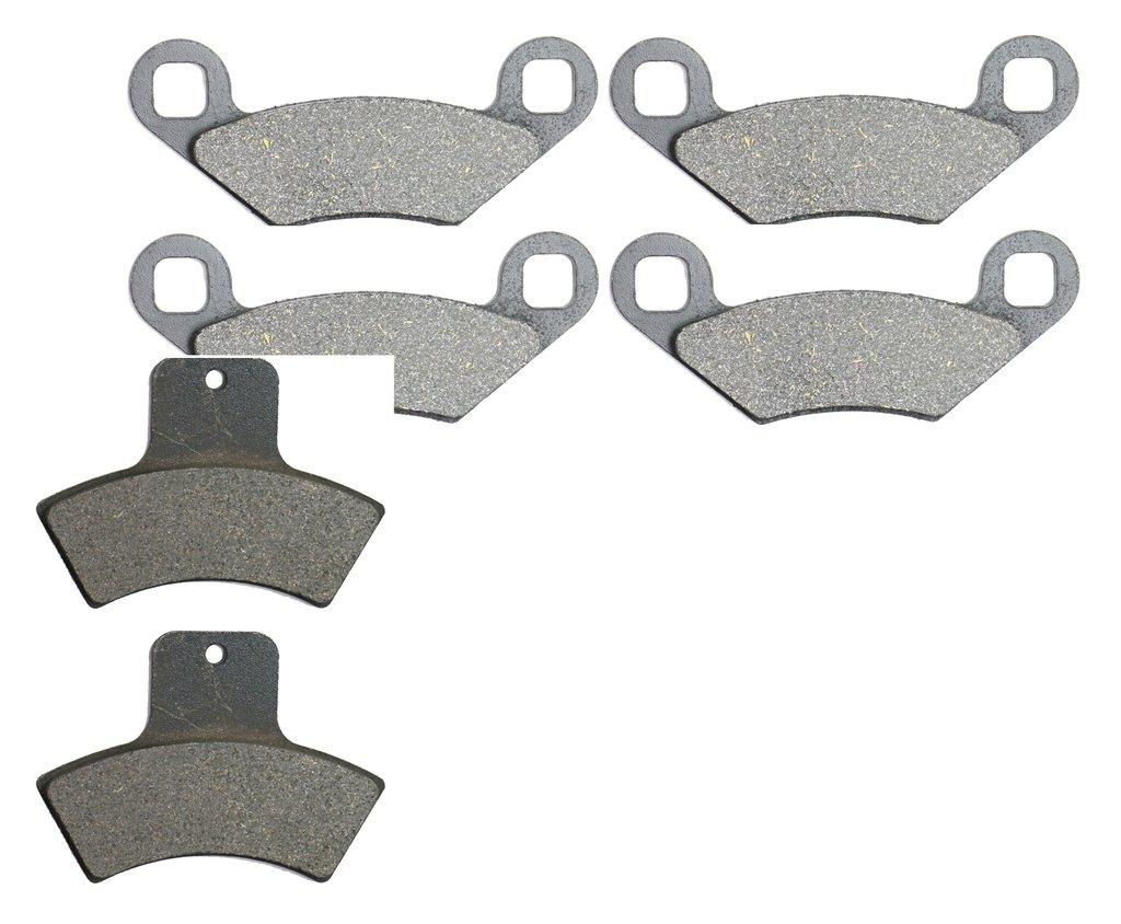 CNBK Semi Metallic Brake Pads Set for POLARIS ATV Bike 325 cc 325cc Trail Boss 00 01 02 2000 2001 2002 6 Pads