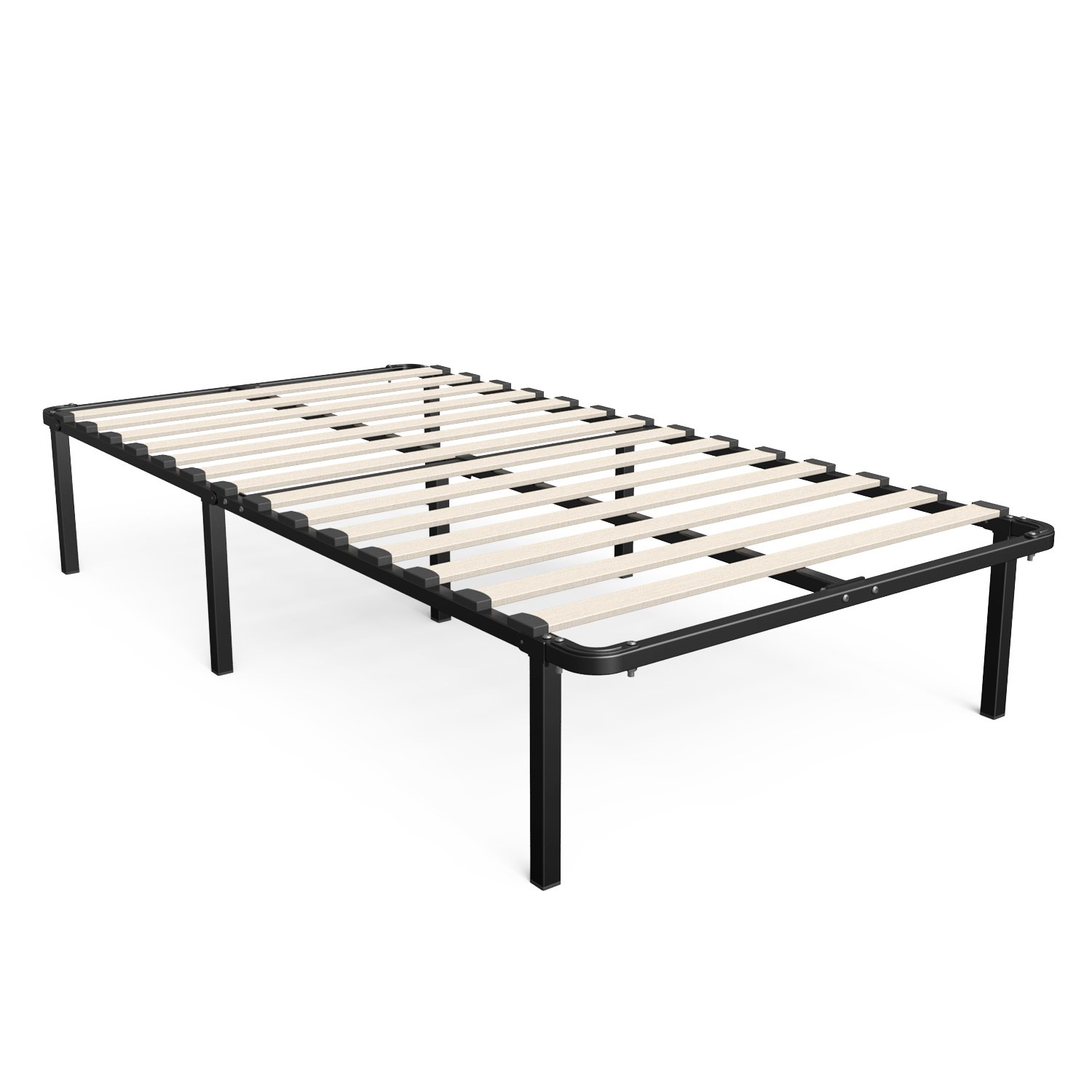 Zinus Cynthia 14 Inch Myeuro Smartbase Wooden Slat Mattress Foundation Platform Bed Frame Box Spring Replacement Twin