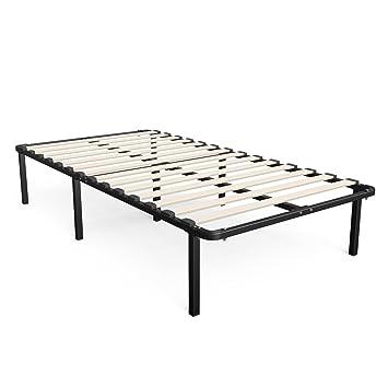 zinus 14 inch myeuro smartbase wooden slat mattress foundation platform bed frame - Bed Frame And Box Spring