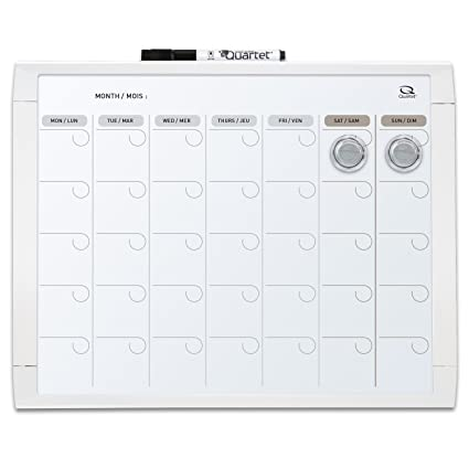 Amazon Com Quartet Magnetic Calendar Whiteboard 11 X 14 Dry