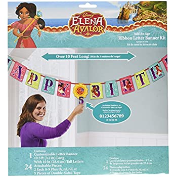American Greetings Elena Add-an-Age Birthday Party Banner