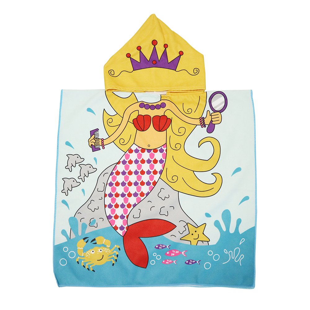Xplanet Toddler Beach Bath Towel, Multi-use for Hooded Poncho Swim Beach Pool Poncho Bath Towel, Home Bath Robe for Kids Child 2-7 Years Boy&Girls by Xplanet (Image #1)