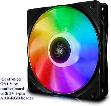 DEEP COOL CF120 PWM Ventilador RGB(120mm) Silencioso de Alto ...